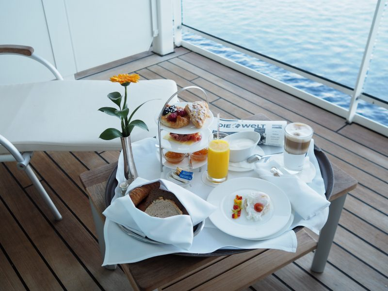 In room breakfast MS Europa 2 luxury cruise ship-min
