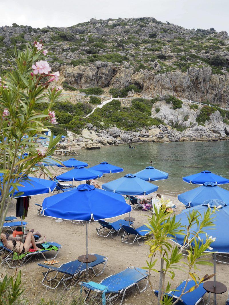 Ladiko beach sand beach Rhodos Greece