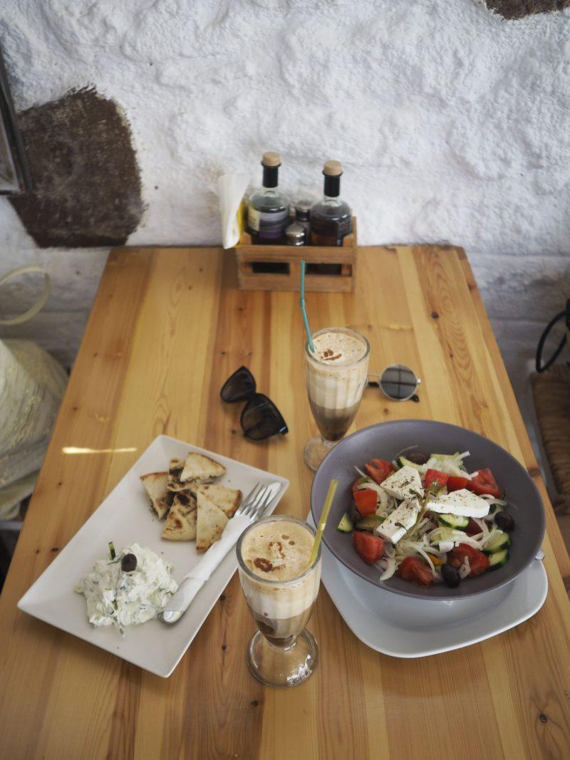 Lunch in Lindos Rhodos Greece