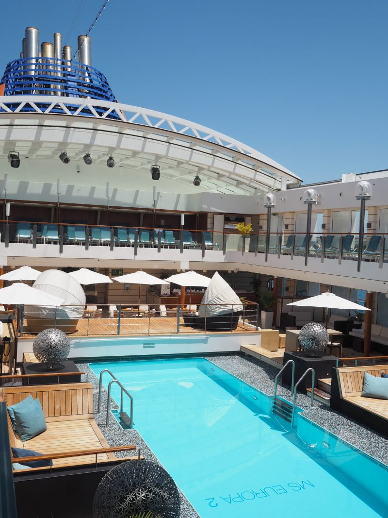 On board one of the most luxurious cruise ship : The MS Europa 2 pool