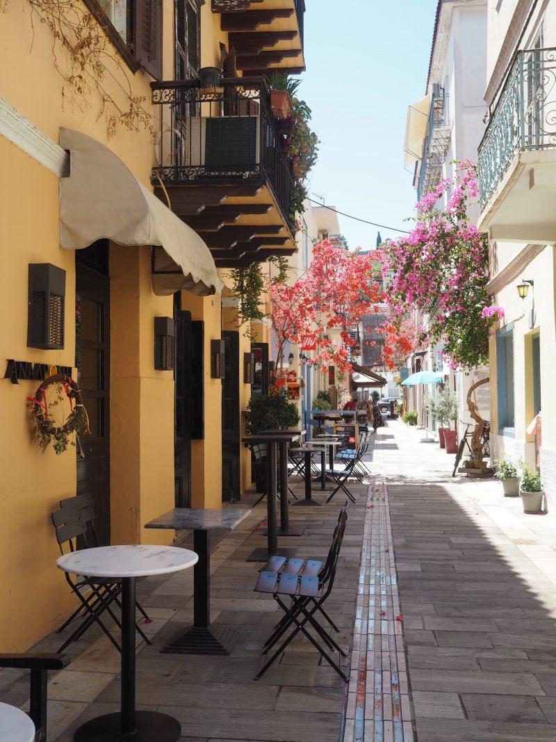 Street Nauplia Peloponnese Greece