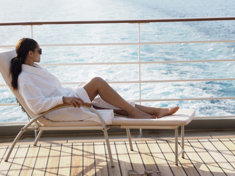 Travel blogger luxury cruise MS Europa 2 spa-min