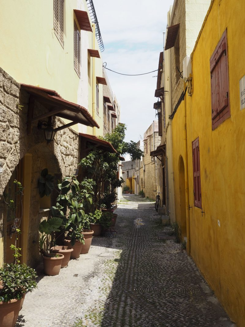 alleys old town of Rhodos Greece