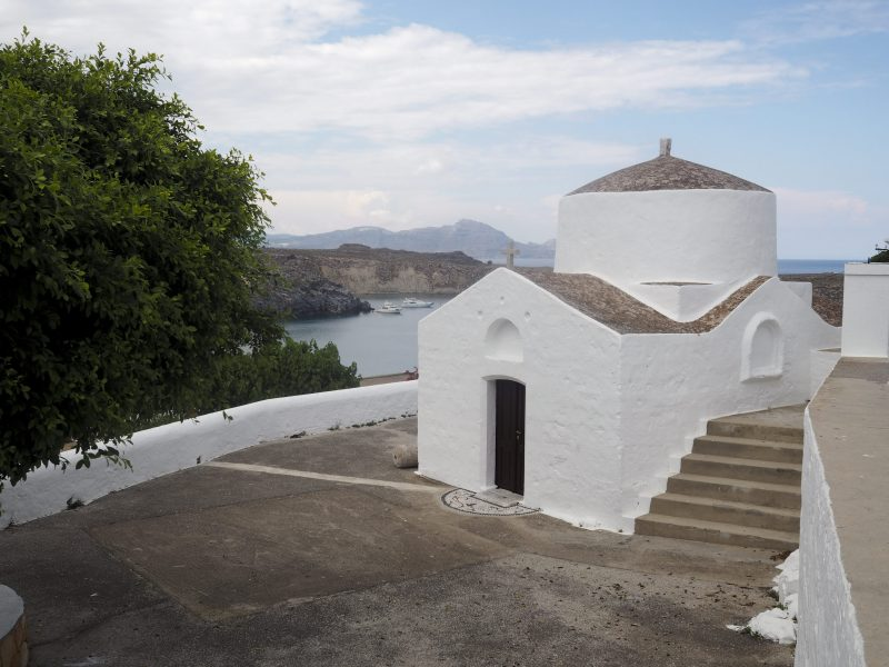 chruch in Lindos Rhodos Greece
