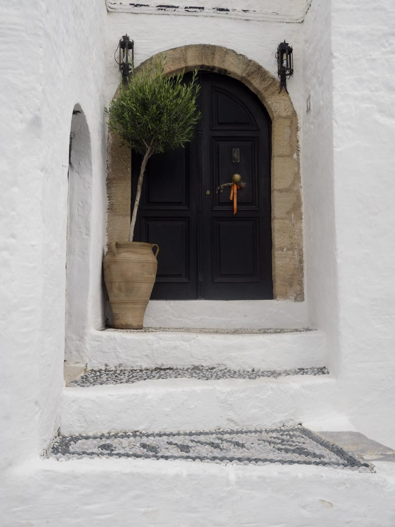 door in Lindos Rhodos Greece
