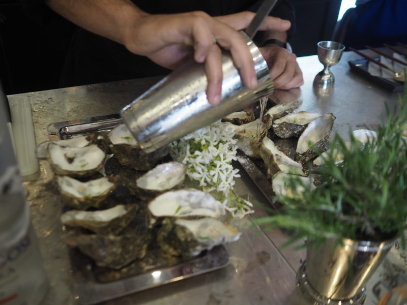 Le logis grey goose atelier of taste a foodpairing for Smoked oyster canape
