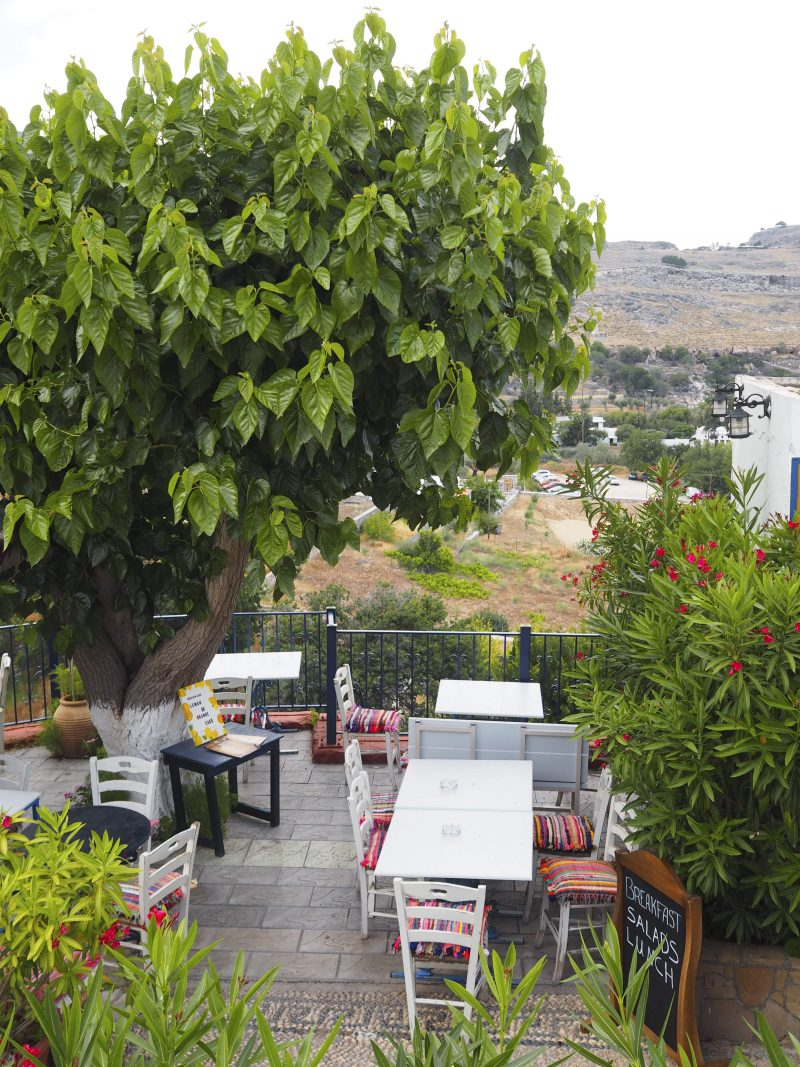 restaurant with a view in Lindos Rhodos Greece