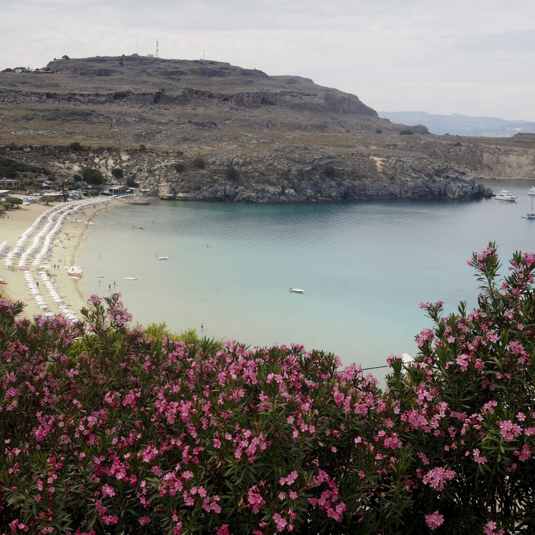 3 days in Rhodos – Old town and sand beaches in Falikari : Ladiko beach and Lindos : Megali Paralia beach