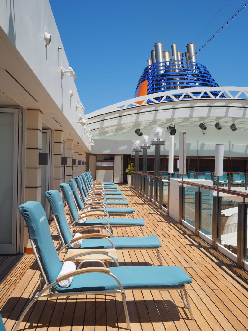 On board one of the most luxurious cruise ship : The MS Europa 2 pool area