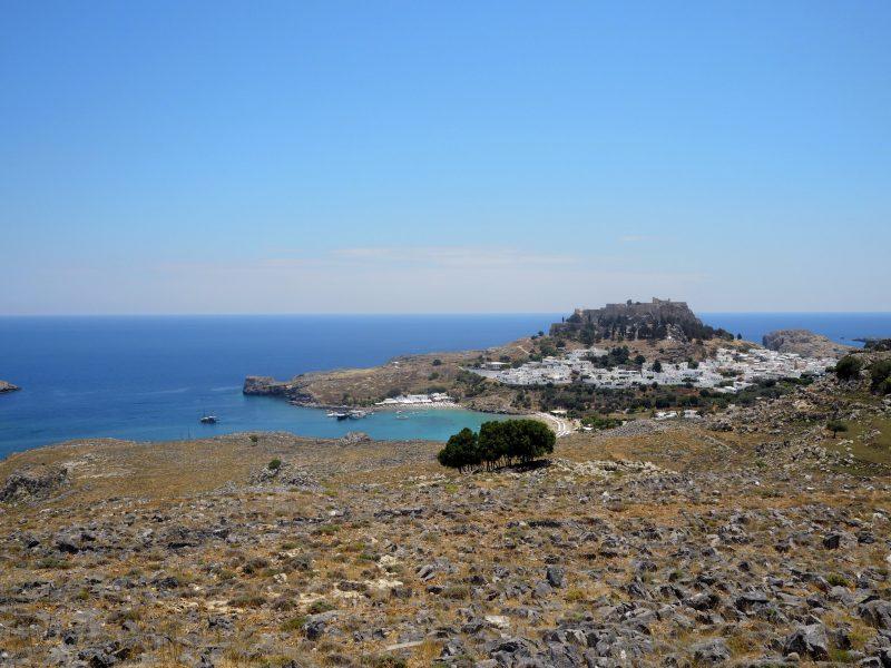 view Lindos Rhodos Greece