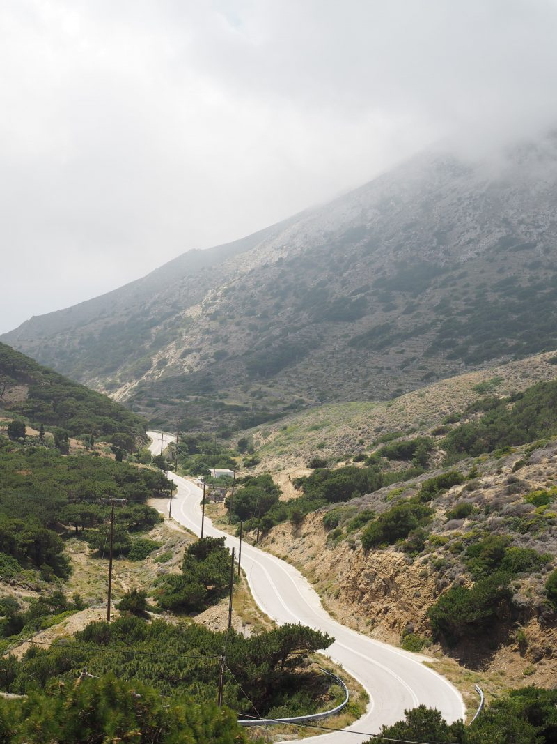 North of Karpathos road