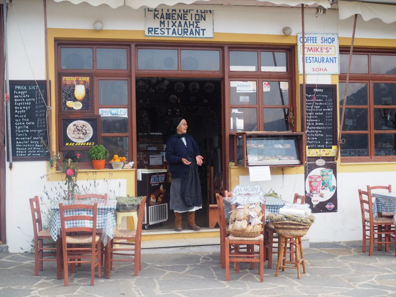 woman in traditional costume in Karpathos