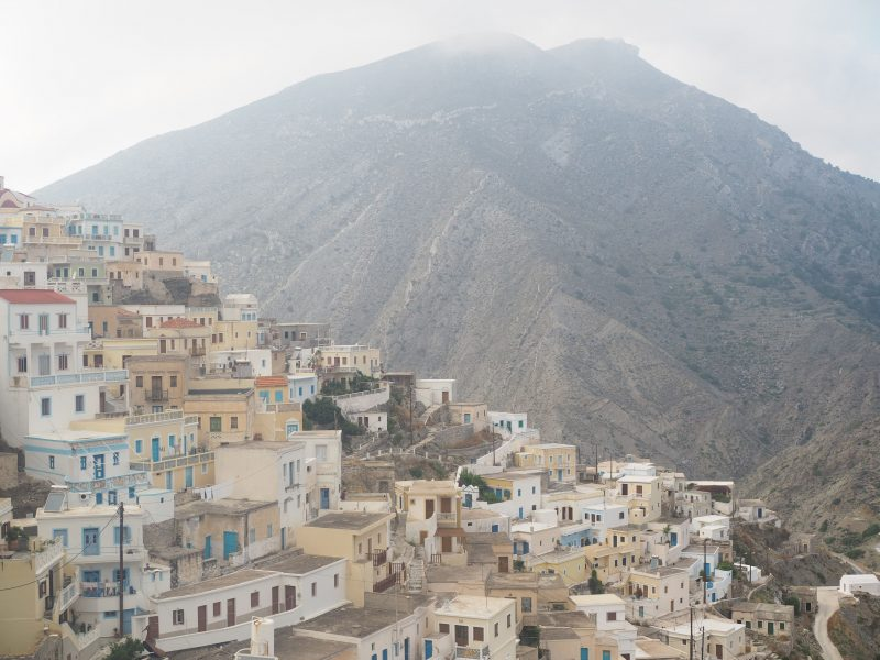 highest village Olympos Karpathos