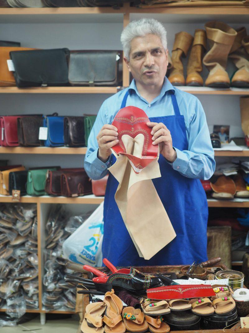 shoe maker in Olympos Karpathos