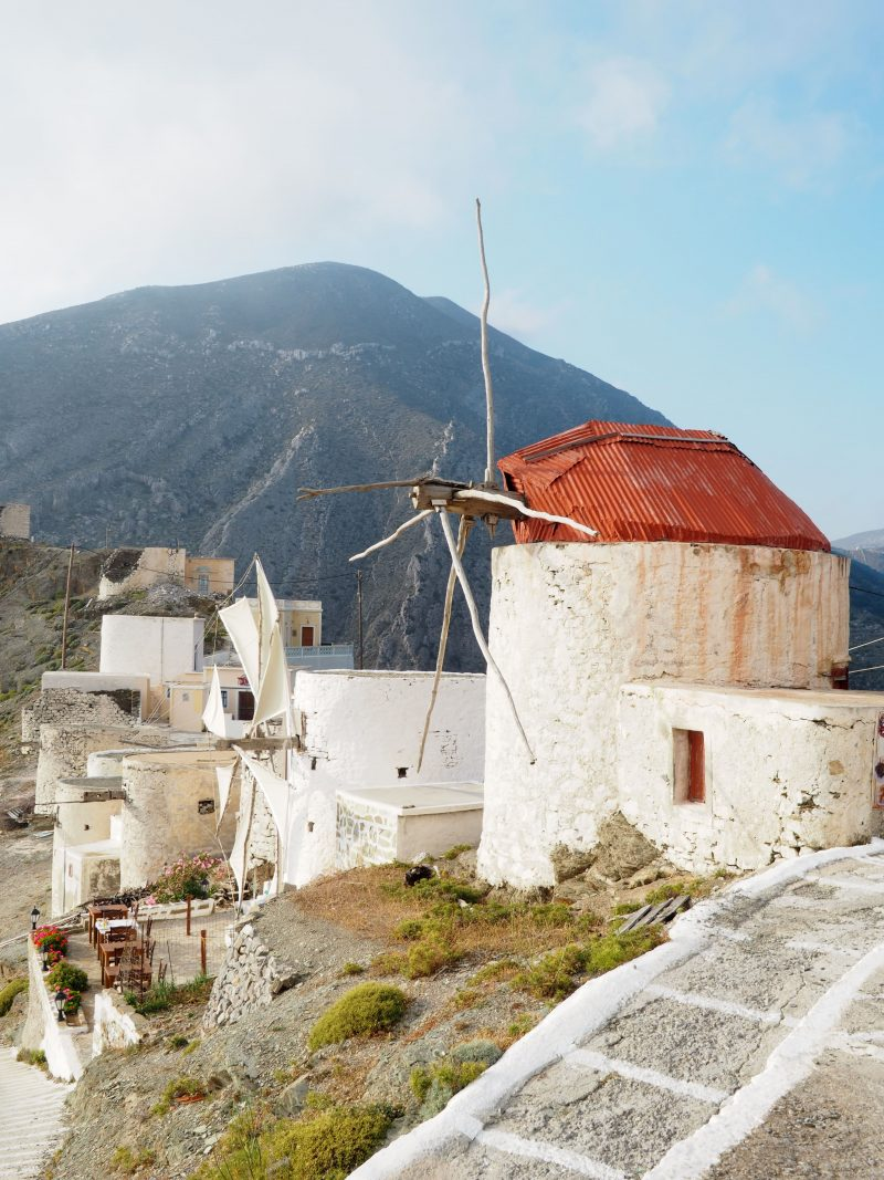 traditional windmill Olympos Karpathos