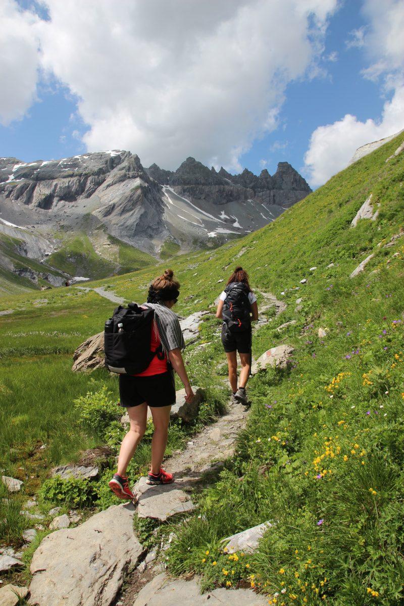 hiking segna plains Flims Switzerland