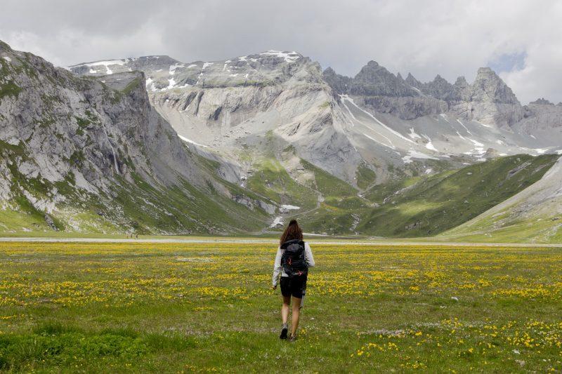 lower segna plains Flims Switzerland