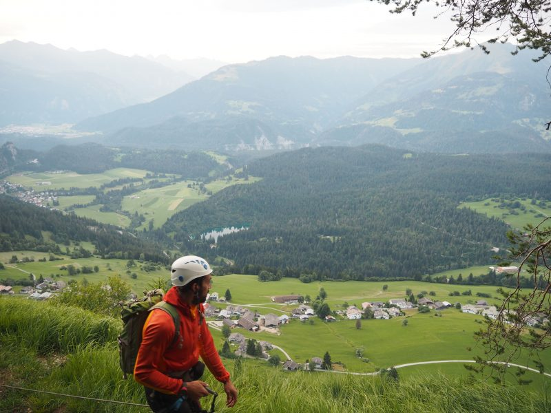 Pinut Via Ferrata Flims Switzerland