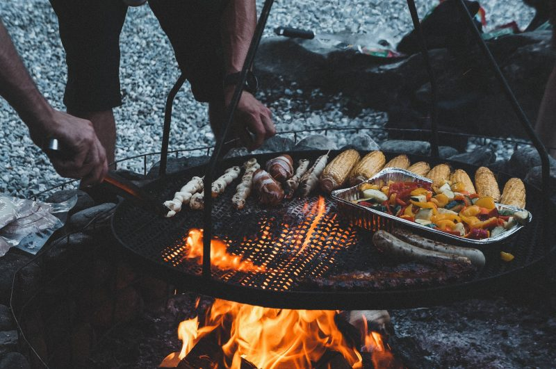 Summer in Flims Barbecue Crestasee Switzerland