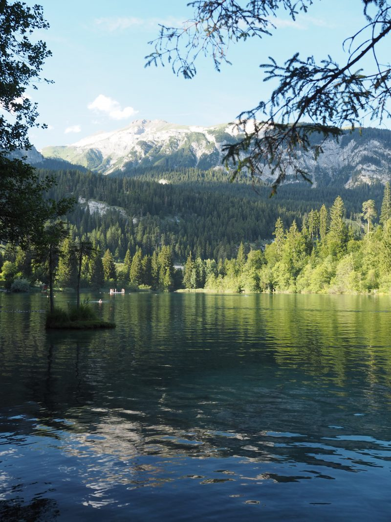 Switzerland summer vacation in Flims Crestasee
