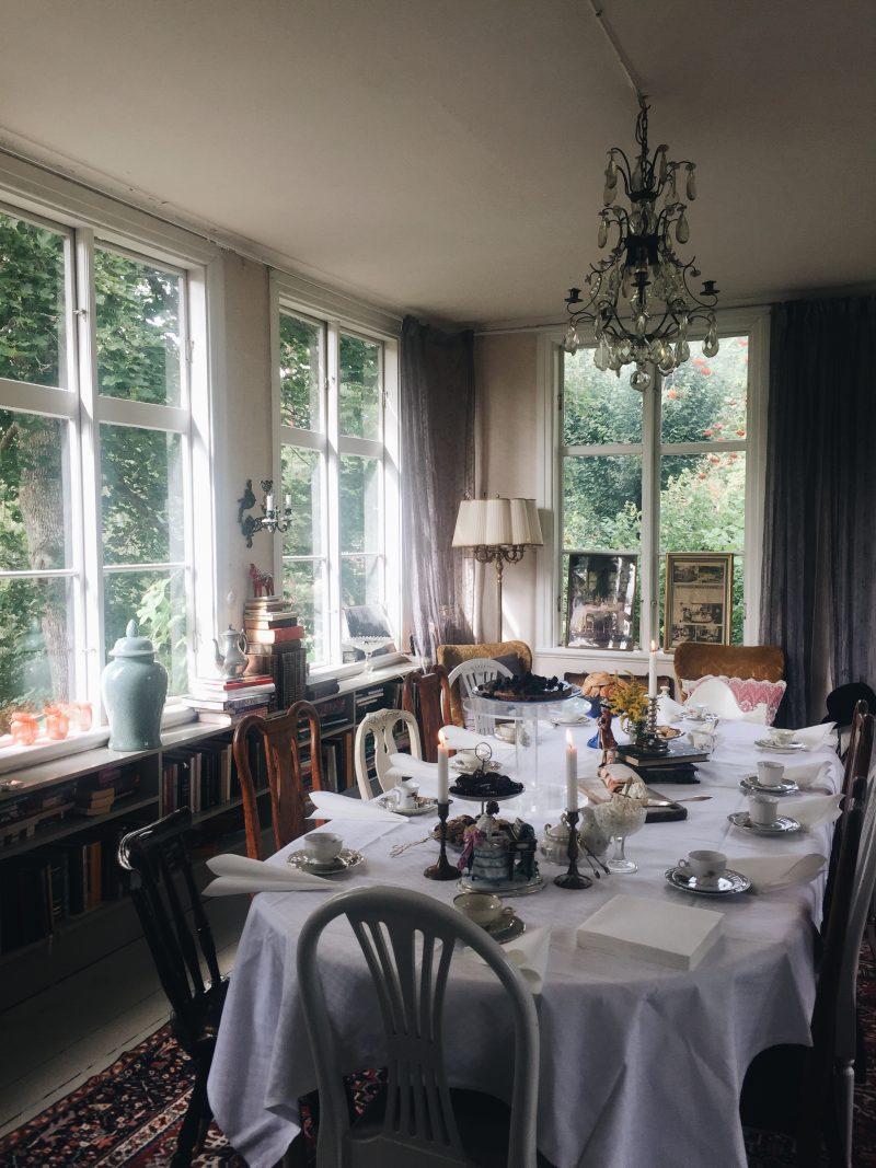 Traditional fika Mörtfors Pensionat Småland Kalmar Sweden