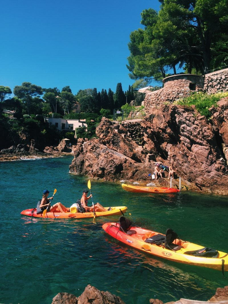 Places to visit in South of France top French Riviera beaches Kayak Esterel Agay