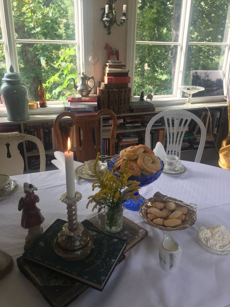 Things to do in Smaland, have a Traditional fika at Mörtfors Sweden