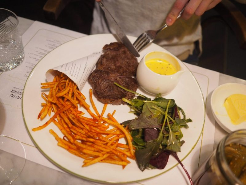Berlin - French Dinner at Colette, a brasserie by Tim Raue Steak frites