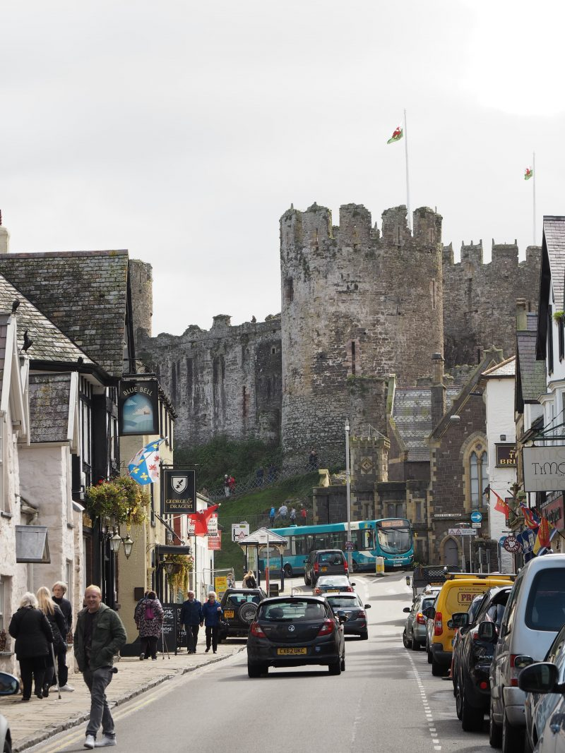 Castle Conwy town North Wales