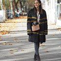 Outfit – Luisa Cerano sheepskin coat