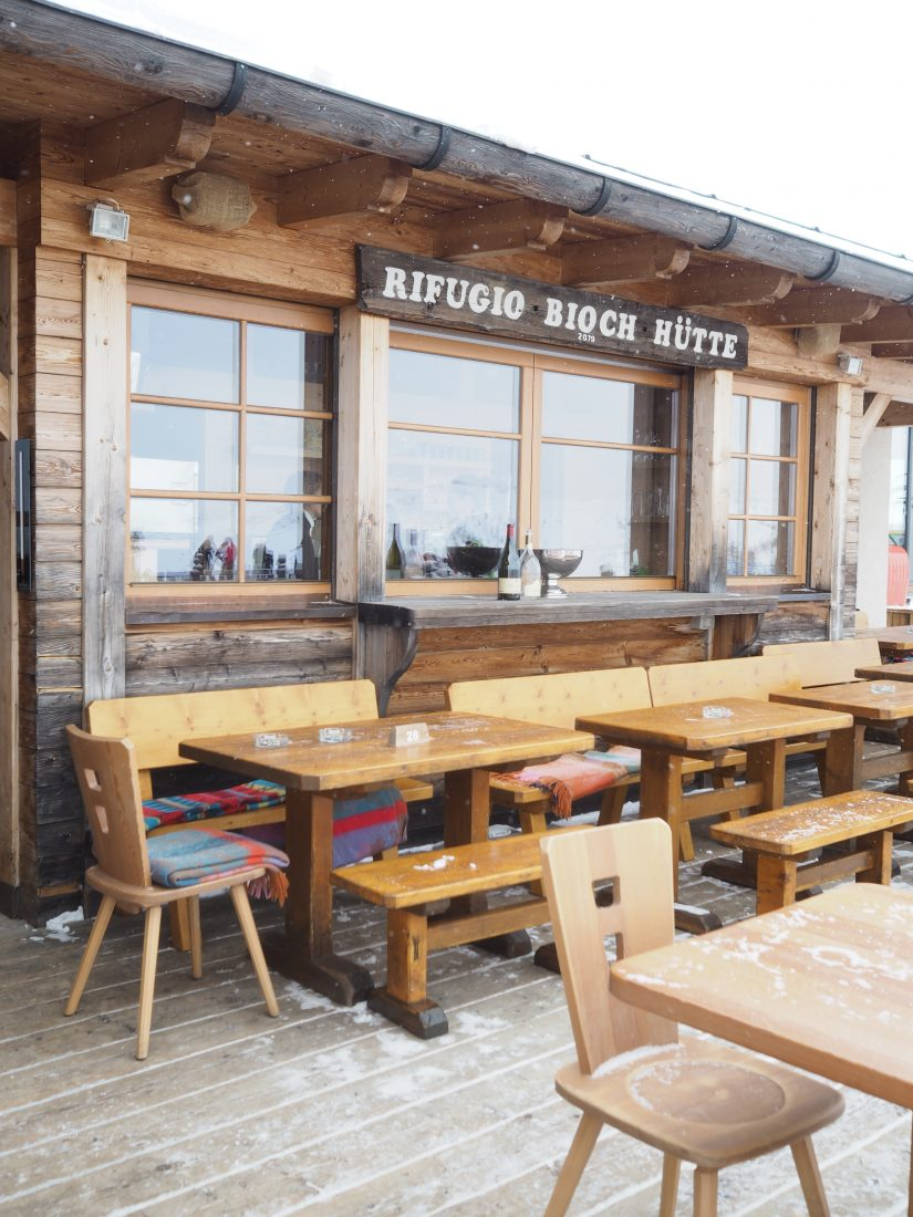 ski safari Alta Badia gourmet Michelin experience Nicola Laera at the Bioch Mountain Hut