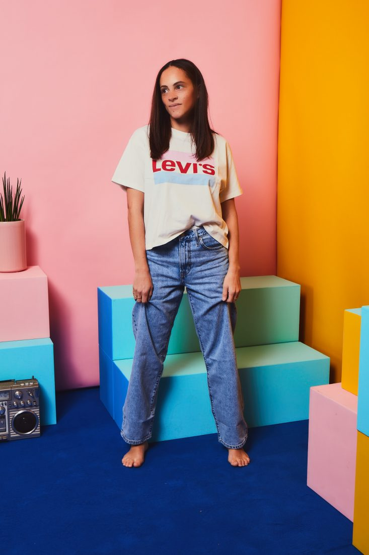 fashion blogger Germany levi's 90's big baggy jeans