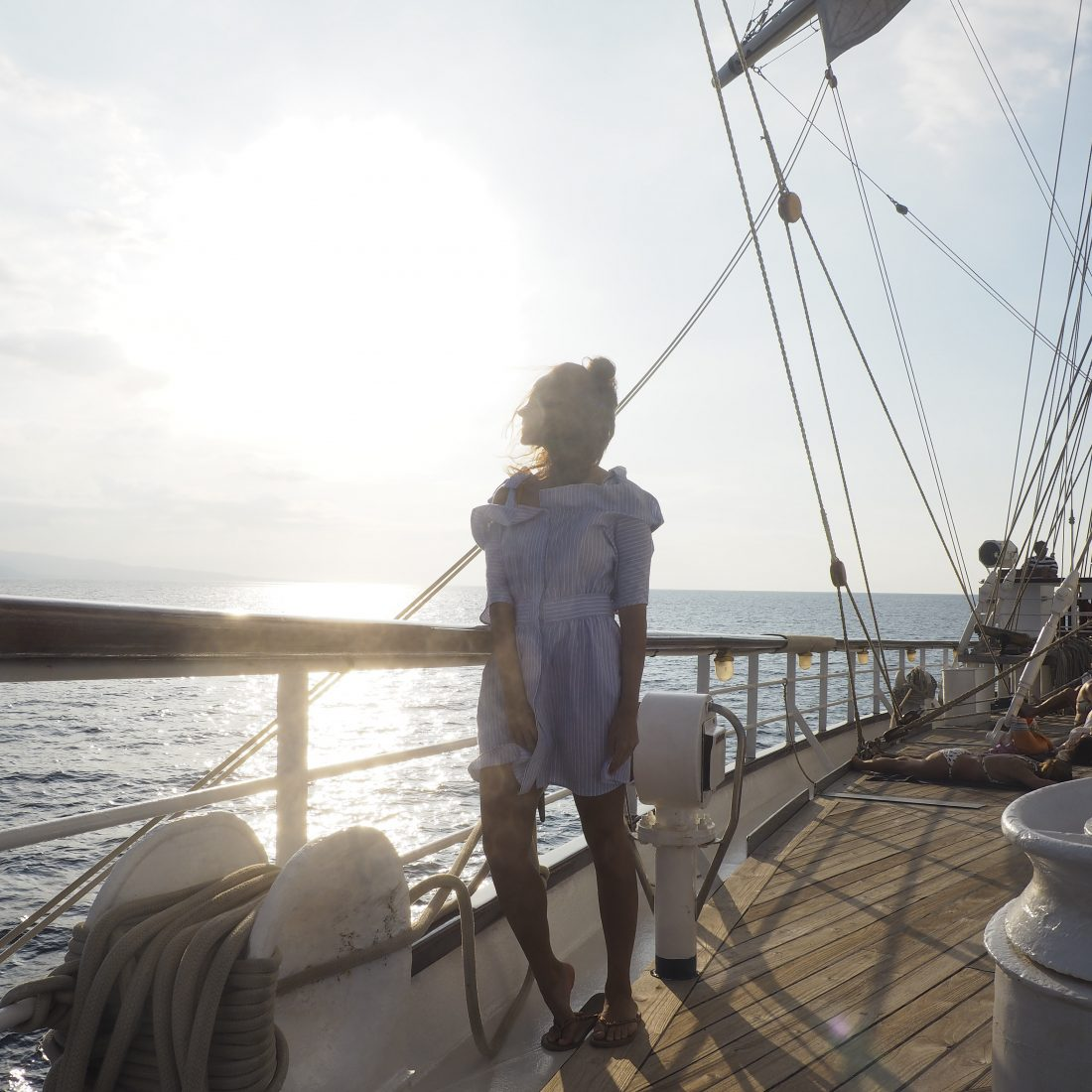 Cruising Indonesia on a sailing boat with the Star clipper