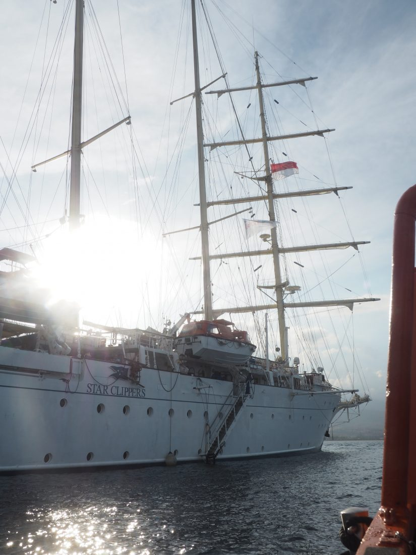 sailing cruise Star clipper Indonesia boat sunset