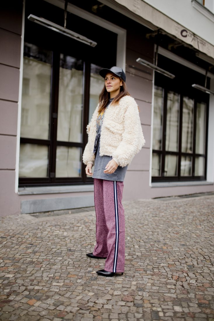 berlin blogger glitter track pants