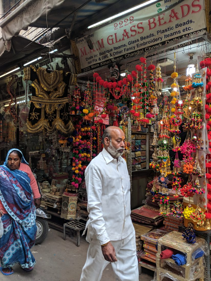 G Adventures golden triangle itinerary Chandni Chowk market Dehli India