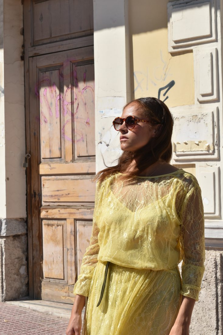 Day Birger and Mikkelsen yellow dress 2