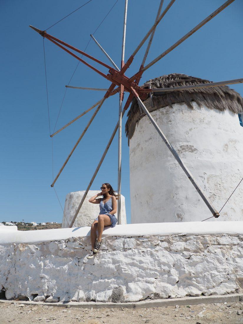 Greek island hopping with Celestyal cruise Mykonos windmill