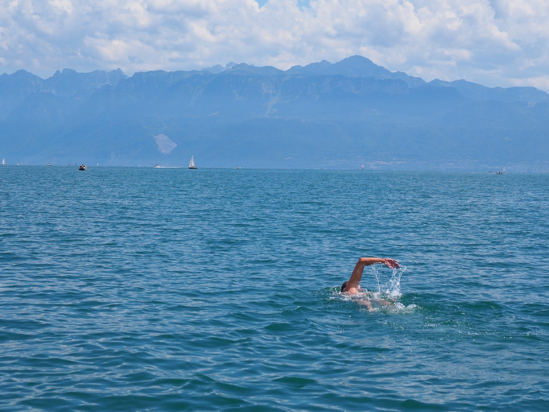 What to do in Lausanne - One of the most beautiful cities in Switzerland swim lake geneva