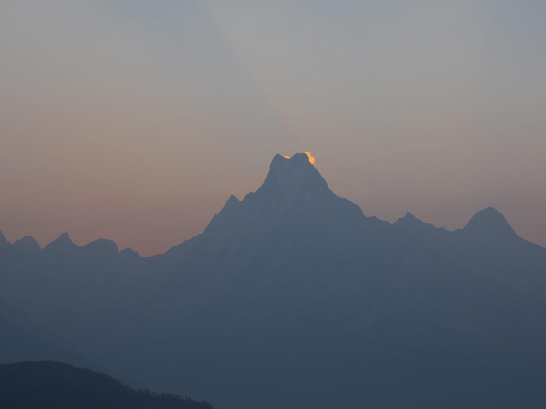 Short trek in Nepal - Mohare Donda trek fish tail view