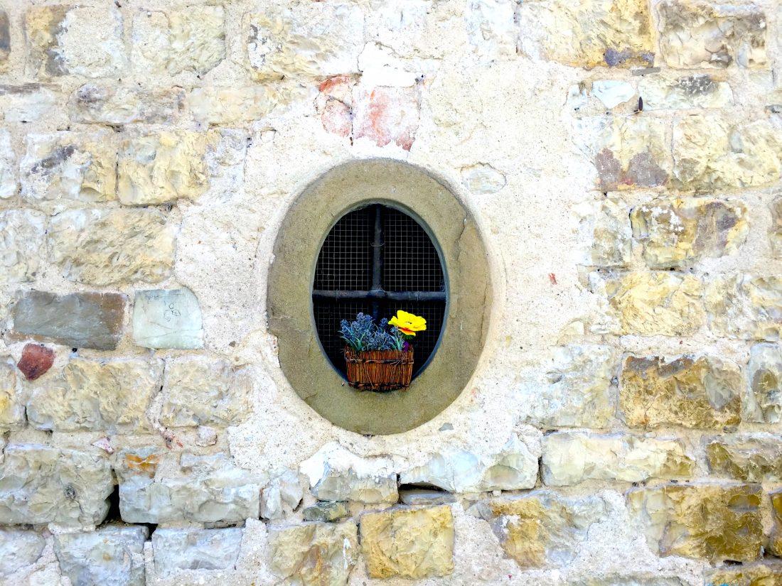 Tuscany roadtrip town in Tuscany Greve in chianti-montifiorelli-window