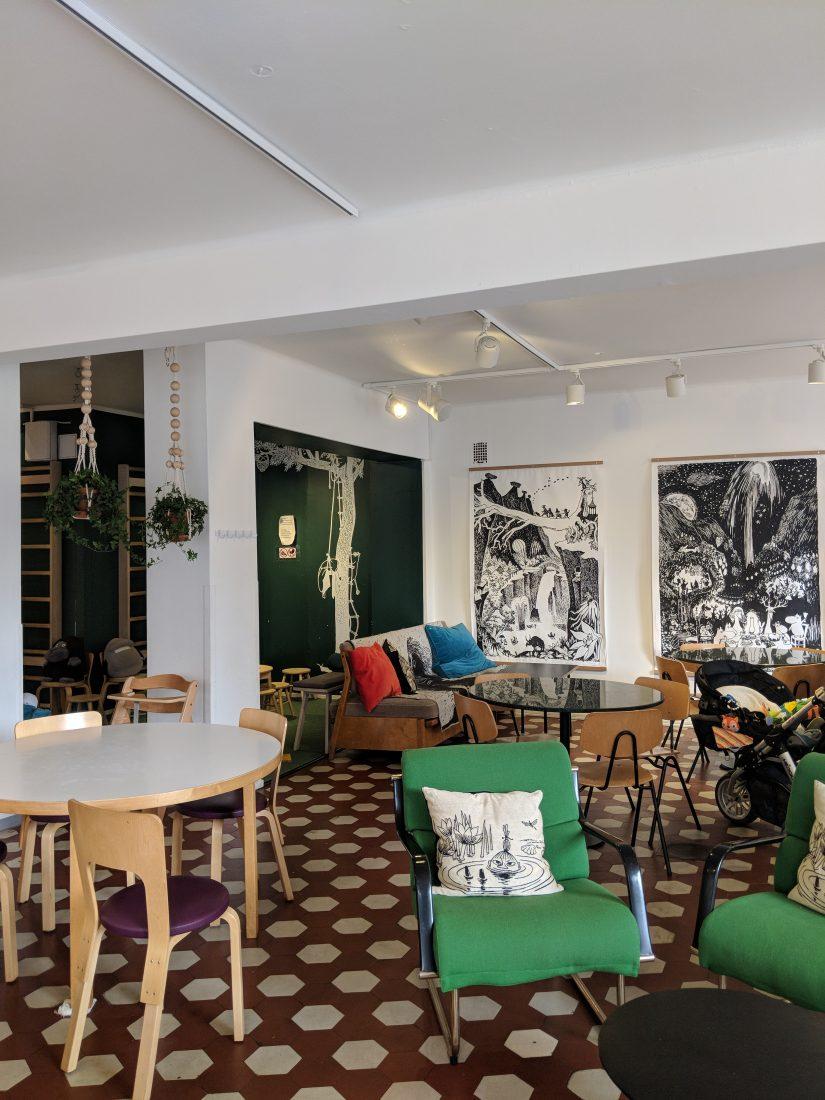 Layover in Helsinki Mumin coffee shop 2