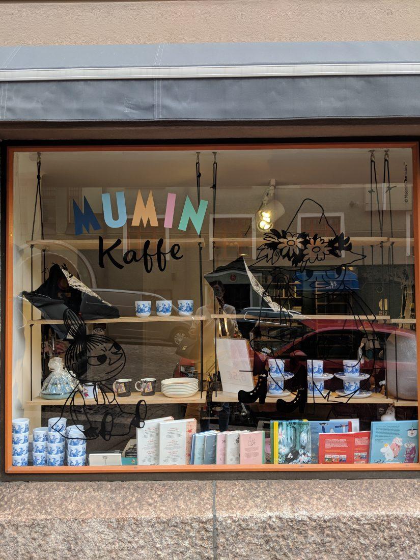 Layover in Helsinki Mumin coffee shop