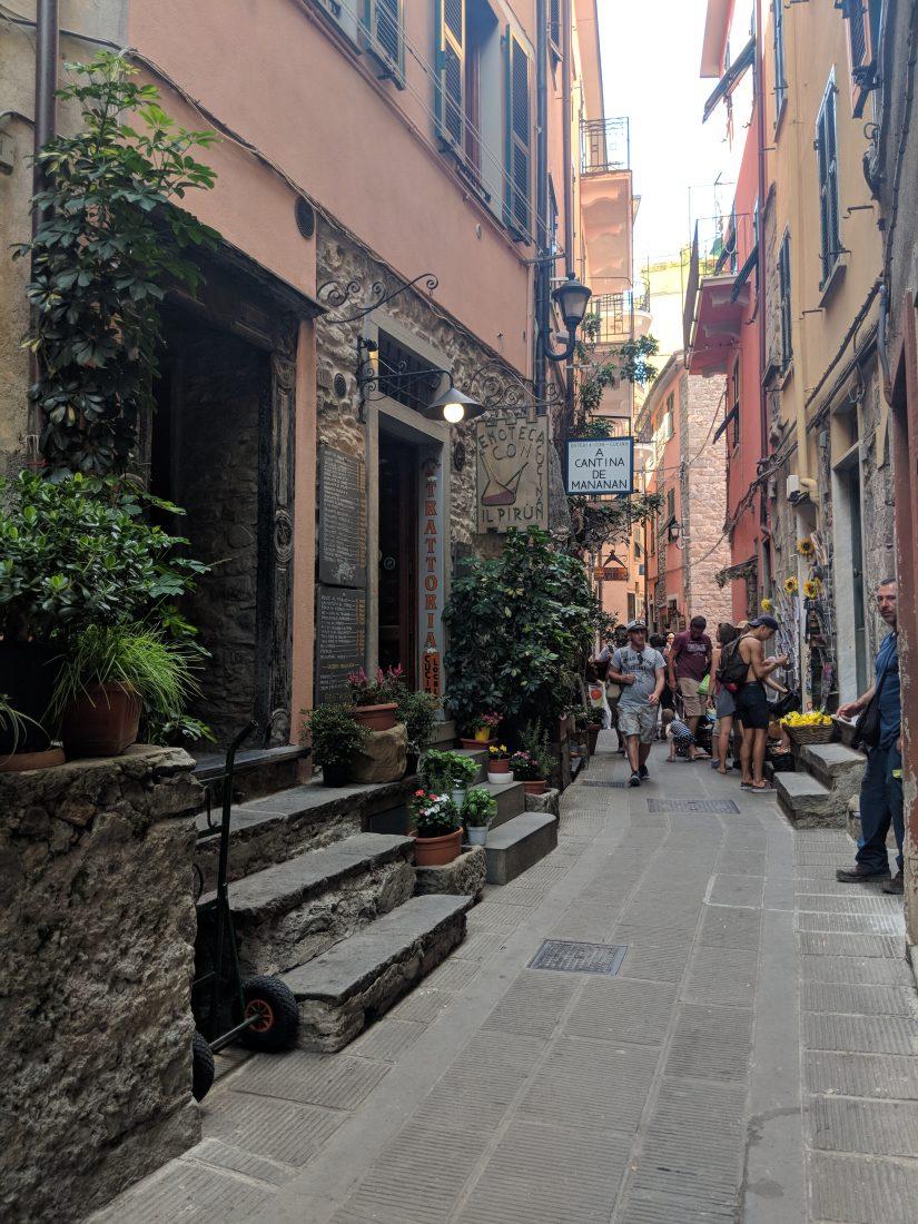 One day in Cinque Terre Pictures Corniglia street
