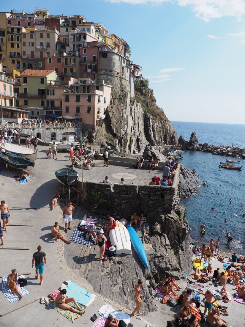 One day in Cinque Terre Pictures Manarola town beach