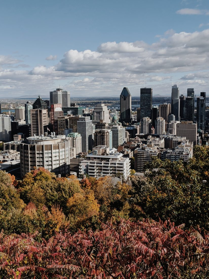 3 days i Montreal View from Mont Royal Montreal Canada