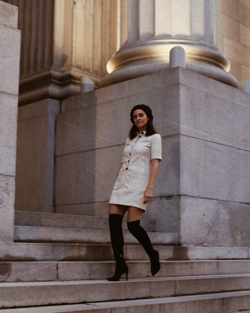 70's dress zara