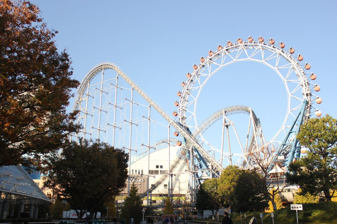 7 days in Tokyo itinerary roller coaster laqua Tokyo dome