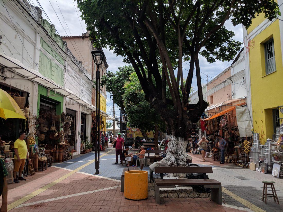 Side street Central Market Fortaleza