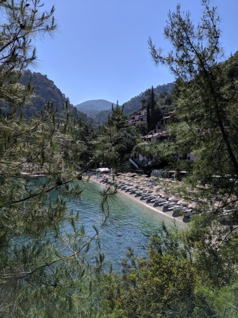 Hillside beach club Fethiye Turkey beach
